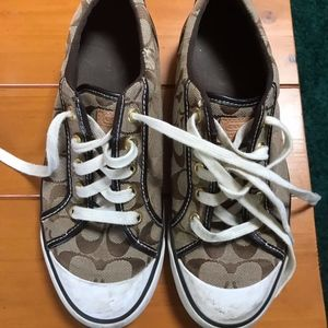 Gently Used Coach Signature Sneakers